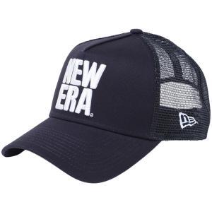 ニューエラ 940キャップ エーフレームトラッカー ビッグニューエラ ネイビー ネイビーメッシュ スノーホワイト New Era 9FORTY Cap A-Frame Trucker Big New Era|cio