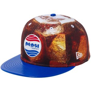 ペプシ×ニューエラ 5950キャップ オールオーバー ペプシパーフェクトロゴ プリント ブルーエナメル Pepsi×New Era 59FIFTY Cap All Over Pepsi Perfect Logo|cio