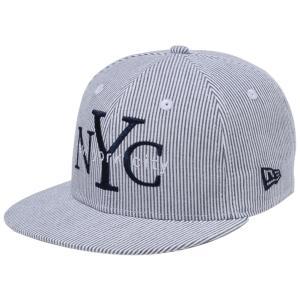 ニューエラ 950キッズキャップ スナップバック ニューヨークシティ NYC  ブラックシアサッカー New Era 9FIFTY Kids Cap Snap Back New York City NYC|cio