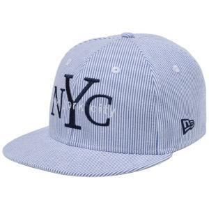ニューエラ 950キッズキャップ スナップバック ニューヨークシティ NYC  ブルーシアサッカー New Era 9FIFTY Kids Cap Snap Back New York City NYC Blue|cio