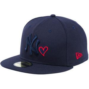 ニューエラ 5950キャップ マルチロゴ ハートロゴコレクション ニューヨークヤンキース New Era 59FIFTY Cap Multi Logo Heart Collection New York Yankees|cio