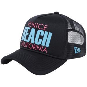ニューエラ 940キャップ スナップバック エーフレームトラッカー ベニスビーチ ブラックトリコット New Era 940 Cap Snapback A-Frame Trucker Venice Beach|cio