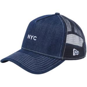 ニューエラ 940キャップ スナップバック エーフレームトラッカー ニューヨークシティ NYC ミニロゴ インディゴデニム New Era 940 Cap Snapback A-Frame NYC|cio