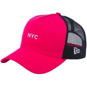 ニューエラ 940キャップ スナップバック エーフレームトラッカー ニューヨークシティ NYC ミニロゴ ブライトローズ New Era 940 Cap Snapback A-Frame NYC|cio