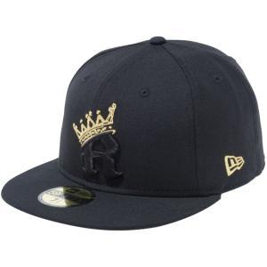 ニューエラ 5950キャップ アンダーバイザー アールクラウン キングストン ブラック メタリックゴールド New Era 5950 Cap Under Visor R-Crown Kingston Black|cio