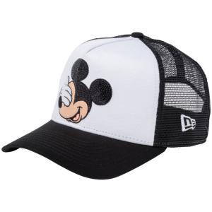 ディズニー×ニューエラ 940キッズキャップ スナップバック エーフレーム ミッキーマウス シークインド ホワイト Disney×New Era 940 Kids A-Frame Mickey|cio