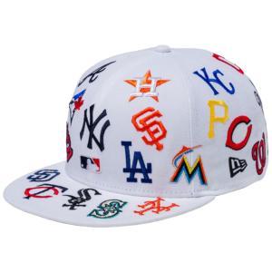 ニューエラ 950キャップ スナップバック MLBチームロゴ オールオーバー ホワイト チームカラー ブラック New Era 950 Cap Snapback MLB Team Logo All Over|cio