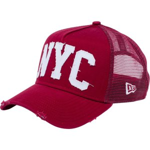 ニューエラ 940 スナップバック キャップ エーフレームトラッカー ダメージ NYC カーディナル New Era 9FORTY Snap Back Cap A-Frame Damaged NYC|cio