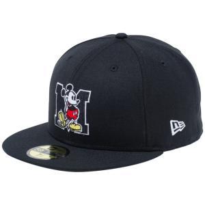ディズニー×ニューエラ 5950キャップ マルチロゴ ミッキーマウス イニシャル ブラック Disney×New Era 59FIFTY Cap Multi Logo Mickey Mouse Initial Black|cio