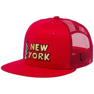 ニューエラ 950チャイルド スナップバック キャップ トラッカー NYC シンボル スカーレット ブラック New Era 9FIFTY Child Snapback Cap Tracker NYC Symbol|cio