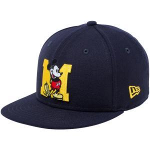 ディズニー×ニューエラ 950チャイルド スナップバック キャップ ミッキー イニシャル ネイビー Disney×New Era 9FIFTY Child Snapback Cap Mickey Initial|cio