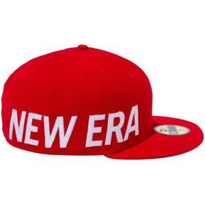 ニューエラ 5950キャップ ホワイトロゴ サイドビッグロゴ スカーレット スノーホワイト New Era 59FIFTY Cap White Logo Side Big Logo Scarlet Snow White|cio