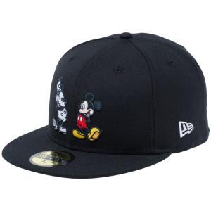 ディズニー×ニューエラ 5950キャップ マルチロゴ ミッキーマウス ブラック キャラクターカラー Disney×New Era 59FIFTY Cap Multi Logo Mickey Mouse Black|cio