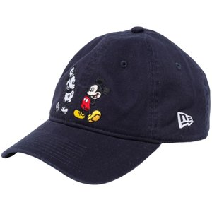 ディズニー×ニューエラ 930キャップ クローズストラップ ミッキーマウス ネイビー キャラクターカラー Disney×New Era 9THIRTY Cap Cloth Strap Mickey Navy|cio