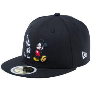 ディズニー×ニューエラ 5950キッズ キャップ マルチロゴ ミッキーマウス ブラック Disney×New Era 59FIFTY Kids Cap Multi Logo Mickey Mouse|cio