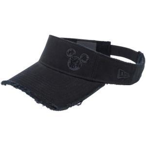 ディズニー×ニューエラ サンバイザー ゴルフ シークインド ミッキーマウス ブラック ブラック Disney×New Era Sun Visor Golf Sequined Mickey Mouse Black|cio