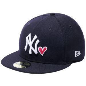 ニューエラ 5950キャップ マルチロゴ ハートロゴコレクション ニューヨークヤンキース ネイビー ホワイト New Era 59FIFTY Multi Logo Heart New York Yankees|cio