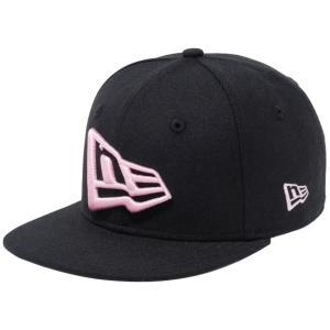 ニューエラ 950チャイルド スナップバック キャップ エヌイー フラッグ ブラック ピンク New Era 9FIFTY Child Snap Back Cap NE Flag Black Pink|cio