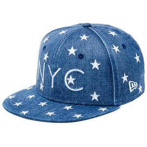 ニューエラ 950 スナップバック キッズ キャップ スターオンデニム ニューヨークシティ NYC New Era 9FIFTY Snap Back Kids Cap Stars On Denim New York City|cio