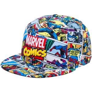 マーベル×ニューエラ 5950キャップ オールオーバー マーベル・コミックロゴ プリント ホワイト MARVEL×New Era 59FIFTY Cap All Over MARVEL COMICS Logo|cio
