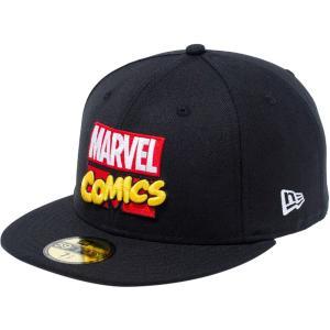 マーベル×ニューエラ 5950キャップ マルチロゴ マーベル・コミックロゴ ブラック ホワイト MARVEL×New Era 59FIFTY Cap Multi Logo MARVEL COMICS|cio