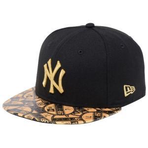 ニューエラ 5950キッズ キャップ ゴールドロゴ ニューヨークヤンキース バイザーステッカー ブラック ゴールド New Era 59FIFTY Kids Cap Gold Logo New York|cio