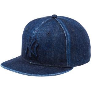 ニューエラ 950 スナップバック キャップ ジャパンデニム ニューヨークヤンキース ウォッシュドデニム ミッドナイトネイビー New Era 9FIFTY Snapback Cap|cio