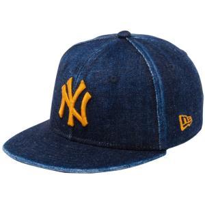 ニューエラ 950 スナップバック キッズ キャップ ジャパンデニム ニューヨークヤンキース ウォッシュドデニム コッパー New Era 9FIFTY Snapback Kids Cap|cio