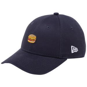 ニューエラ 940 キッズ キャップ ミニロゴ ファストフード ハンバーガー ネイビー マルチカラー スノーホワイト New Era 9FORTY Kids Cap Mini Logo Fast Food|cio