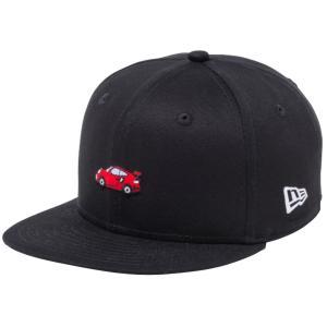 ニューエラ 950チャイルド スナップバック キャップ ミニロゴ カーズ スポーツカー ブラック マルチカラー ホワイト New Era 9FIFTY Child Snapback Cap Logo|cio