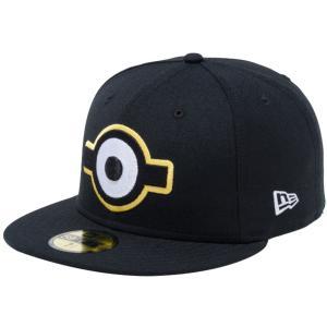 ミニオンズ×ニューエラ 5950キャップ マルチロゴ 一つ目 ブラック マルチカラー スノーホワイト Despicable Me Minion×New Era 59FIFTY Cap Multi Logo Eye|cio