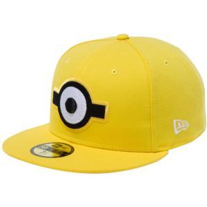 ミニオンズ×ニューエラ 5950キャップ マルチロゴ 一つ目 サイバーイエロー スノーホワイト Despicable Me Minion×New Era 59FIFTY Cap Multi Logo Eye|cio