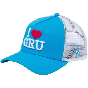 ミニオンズ×ニューエラ 940 スナップバック キャップ エーフレームトラッカー I LOVE GRU ブルー ホワイトメッシュ ストロベリー ターコイズ Minion×New Era|cio