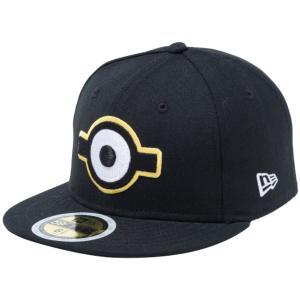 ミニオンズ×ニューエラ 5950キッズ キャップ マルチロゴ 一つ目 ブラック スノーホワイト Despicable Me Minion×New Era 59FIFTY Kids Cap Multi Logo Eye|cio