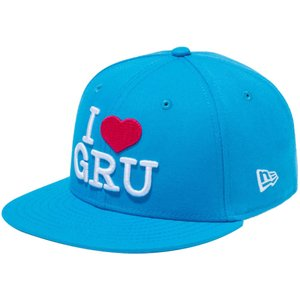 ミニオンズ×ニューエラ 950 スナップバック キッズ キャップ I LOVE GRU ブルー ホワイト ストロベリー Despicable Me Minion×New Era 9FIFTY Snap Back Kids|cio