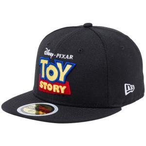 トイストーリー×ニューエラ 5950キッズ キャップ マルチロゴ タイトルロゴ ブラック ホワイト Toy Story×New Era 59FIFTY Kids Cap Multi Logo Title Logo|cio