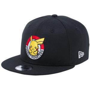 ポケモン×ニューエラ 950 スナップバック キッズ キャップ ピカチュウ サークル ブラック ホワイト Pokemon×New Era 9FIFTY Snapback Kids Cap Pikachu Circle|cio