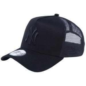 ニューエラ 940 スナップバック キャップ エーフレームトラッカー MLBカスタム ニューヨークヤンキース ブラック ブラックメッシュ ブラック New Era 9FORTY Cap cio