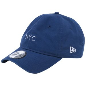 ニューエラ 930キャップ クローズストラップ キャンバス ニューヨークシティ NYC ミニロゴ ナイトブルー ホワイト New Era 9THIRTY Cap Cloth Strap Canvas cio