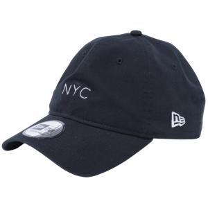 ニューエラ 930キャップ クローズストラップ キャンバス ニューヨークシティ NYC ミニロゴ ブラック スノーホワイト New Era 9THIRTY Cap Cloth Strap Canvas cio