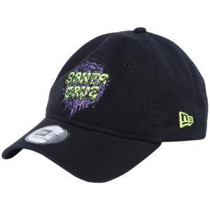 サンタクルーズ×ニューエラ 930キャップ クローズストラップ スライムドットロゴ ブラック イエロー パープル Santa Cruz×New Era 9THIRTY Cap Slime Dot Logo cio