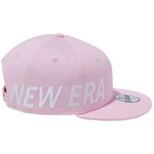 ニューエラ 950 スナップバック キッズ キャップ エッシェンシャル サイドビッグロゴ ピンク スノーホワイト New Era 9FIFTY Snap Back Kids Cap Essential|cio