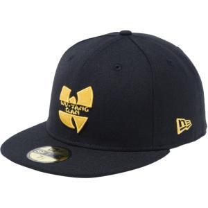 ウータンクラン×ニューエラ 5950キャップ イエローロゴ ミュージックアーティスト ブラック マニラ Wu-Tang Clan×New Era 59FIFTY Cap Yellow Logo Music|cio