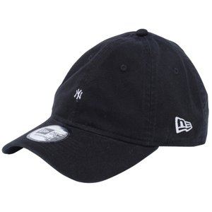 ニューエラ 930キャップ クローズストラップ マイクロロゴ ニューヨークヤンキース ブラック スノーホワイト New Era 9THIRTY Cap Cloth Strap Micro Logo cio