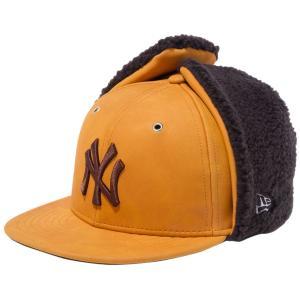ニューエラ 5950キッズ キャップ ドッグイヤー シンセティックヌバック ニューヨークヤンキース イエローヌバック ブラウン New Era 59FIFTY Kids Cap Dog Ear|cio