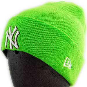 New Era KNIT CAP Pop Cuff Knit NewYork Yankees LimeGreen ニューエラ ニットキャップ ポップ カフ ニット ニューヨークヤンキース ライムグリーン|cio