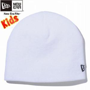 ニューエラ キッズニットキャップ ベーシック ビーニー ホワイト ブラック New Era Kids Knit Cap Basic Beanie Ivory Black|cio