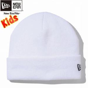 ニューエラ キッズニットキャップ ベーシックカフニット ホワイト ブラック New Era Kids Knit Cap Basic Cuff Knit White Black|cio