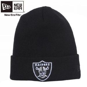 ニューエラ ニットキャップ ベーシックカフニット チームロゴ オークランド レイダース ブラック New Era Knit Cap Bacic Cuff Knit Oakland Raiders Black|cio