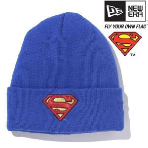 スーパーマン×ニューエラ ニットキャップ ベーシックカフニット スーパーマンロゴ ロイヤル SUPERMAN×New Era Knit Cap Bacic Cuff Knit Superman Logo cio